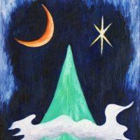 月山星雲(1983/ベニヤ板)