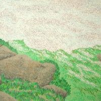 普賢岳山頂(1985/四六4切)