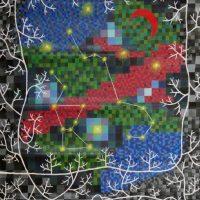 白い木と星座(1986/F80号)