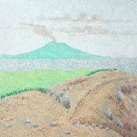 新燃岳からの桜島(1985/四六4切)