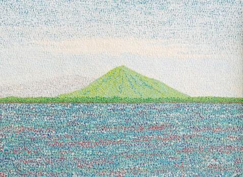 パンケ沼から利尻岳(1984/四六4切)